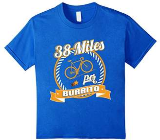 38 Miles Per Burrito Funny Mountain Biker tshirt