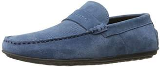 HUGO BOSS HUGO by Men's Travelling Dandy Suede Leather Moccasin Shoes Slip-On Loafer