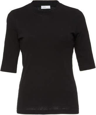 Rosetta Getty Elbow-Length Fitted Cotton T-Shirt