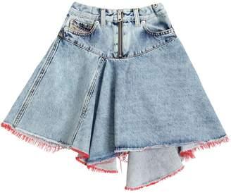 Diesel Asymmetrical Cotton Denim Skirt