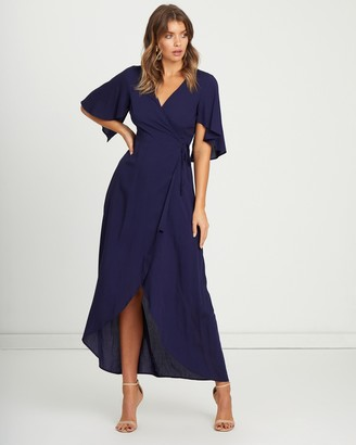 Atmos & Here Lina Wrap Maxi Dress