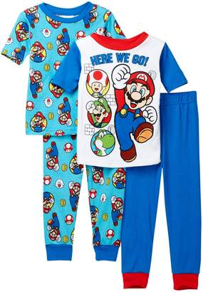 AME Super Mario Bros Here We Go Cotton PJs - Set of 2 (Little Boys & Big Boys)
