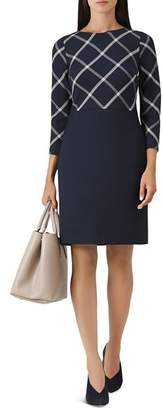 Hobbs London Carolyn Windowpane Sheath Dress