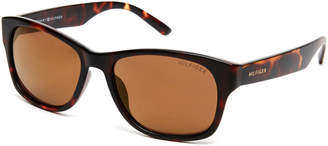 Tommy Hilfiger Tortoiseshell-Look Leo Wayfarer Sunglasses