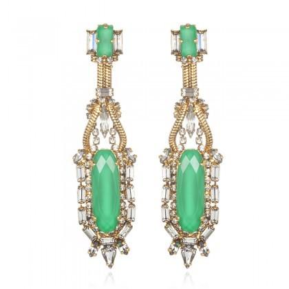 Erickson Beamon Green Bette Davis Eyes Earrings