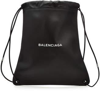 Balenciaga Leather School Backpack