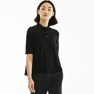 Lacoste Women's Pleated Back Petit Pique Polo