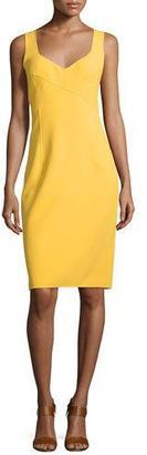 Michael Kors Sleeveless V-Neck Sheath Dress, Daffodil $1,795 thestylecure.com