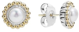Women's Lagos Stone Stud Earrings $475 thestylecure.com