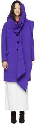 Marc Jacobs Purple Wool Notch Collar Coat