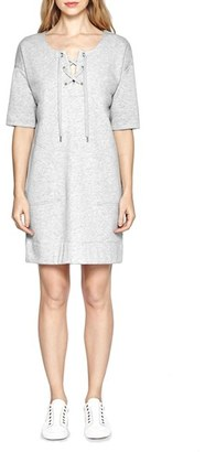 French Connection 'Jamie' Lace-Up Neck Shift Dress $128 thestylecure.com
