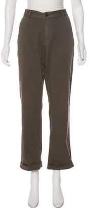 John Varvatos High-Rise Straight-Leg Pants