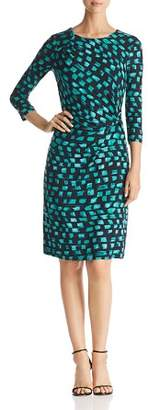Nic+Zoe Vivid Print Twist-Front Dress