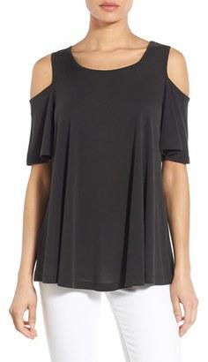 Petite Women's Bobeau Cold Shoulder Flutter Sleeve Top $44 thestylecure.com