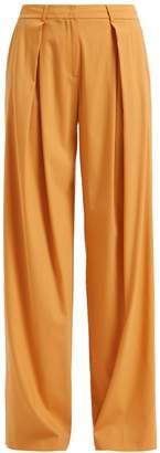 WtR - Sofia Wide Leg Wool Trousers Mustard
