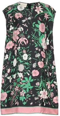 Gucci Floral silk tunic top