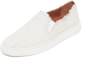 Frye Ivy Fray Woven Slip On Sneakers $258 thestylecure.com