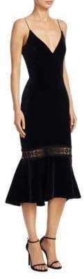 Nicholas Velvet Ruffle Dress