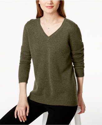 Charter Club V-Neck Cashmere Sweater, Created for Macy's $139 thestylecure.com