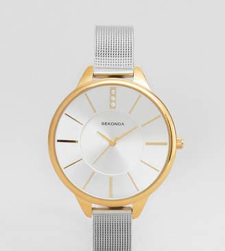 Sekonda Mesh Watch In Silver/Gold Exclusive To ASOS