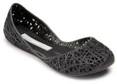 Mini Melissa Kid's Zigzag Glitter Flats $65 thestylecure.com