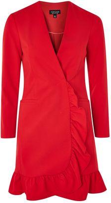 Topshop Frill Hem Blazer Dress