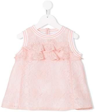 Simonetta ruffled lace dress