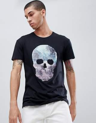 Jack and Jones Originals T-Shirt With Reversible Sequin Skull