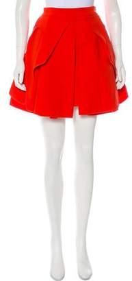 Alexander McQueen Pleated A-Line Mini Skirt