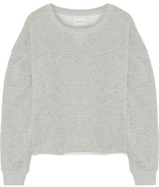 Simon Miller Frayed French Cotton-terry Sweatshirt - Gray