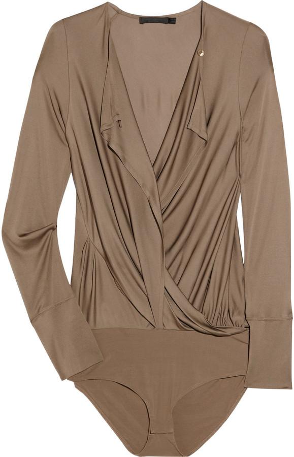 Donna Karan Convertible satin-jersey bodysuit