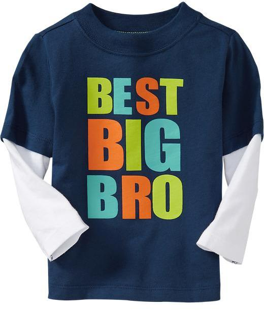 """Best Big Bro"" 2-in-1 Tees for Baby"