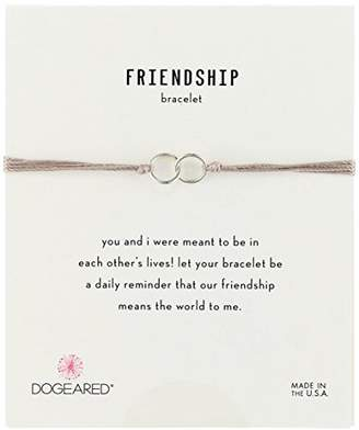 Dogeared Friendship Gold Dipped Double Link Silk Adjustable Closure Bracelet