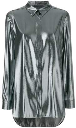 Alberta Ferretti metallic effect shirt
