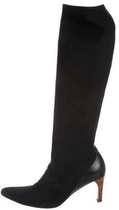 Gucci Nylon Knee-High Boots