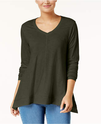 Style&Co. Style & Co V-Neck Swing Top, Created for Macy's