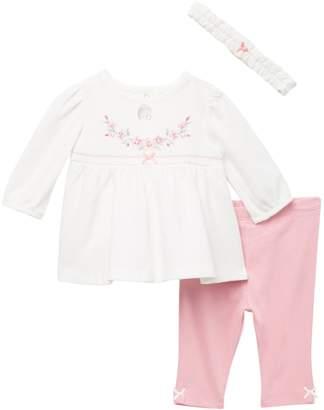 Little Me Bountiful Tunic, Leggings, & Headband Set (Baby Girls)