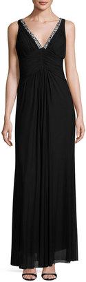 Marina Shirred-Bodice Gown, Black $149 thestylecure.com