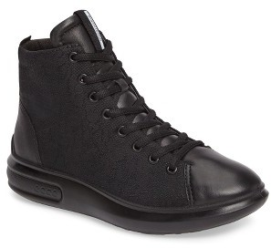 Women's Ecco Soft 3 High Top Sneaker $179.95 thestylecure.com