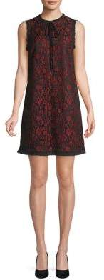 Kensie Sleeveless Lace Shift Dress