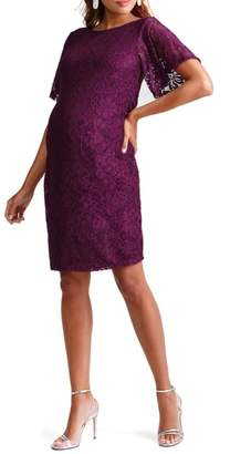 Ingrid & Isabel R) Flutter Sleeve Lace Maternity Dress