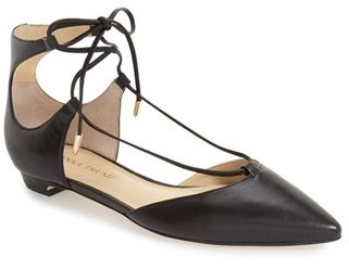 Ivanka Trump 'Tavyn' Pointy Toe Ghillie Flat (Women) $129.95 thestylecure.com