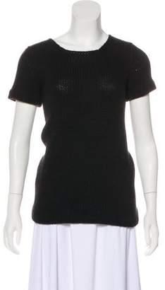 Miu Miu Short Sleeve Knit Sweater