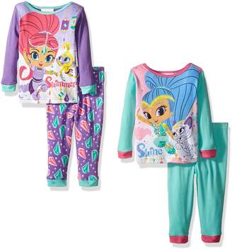 Nickelodeon Baby Shimmer and Shine 4-Piece Pajama Set, Assorted