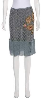 Missoni Embellished Knee-Length Skirt