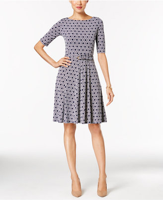 Charter Club Elbow-Sleeve Fit & Flare Dress, Only at Macy's $89.50 thestylecure.com