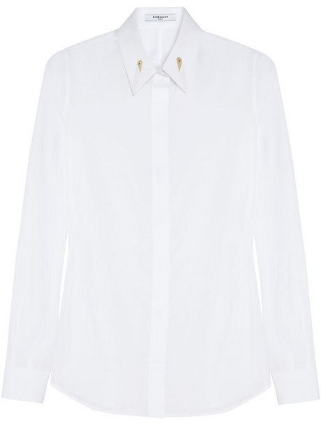 Givenchy White poplin shirt with gold stiffener