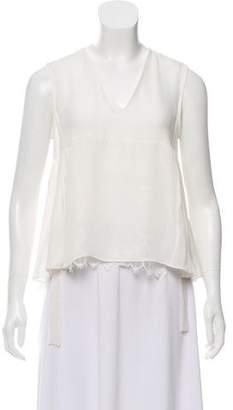 Jenni Kayne Silk Lace-accented Top