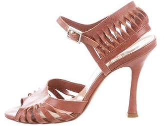 John Galliano Leather Sandal Pumps