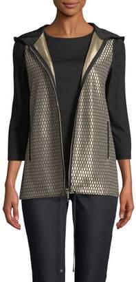 Lafayette 148 New York Francisco Honeycomb-Knit Novelty Vest